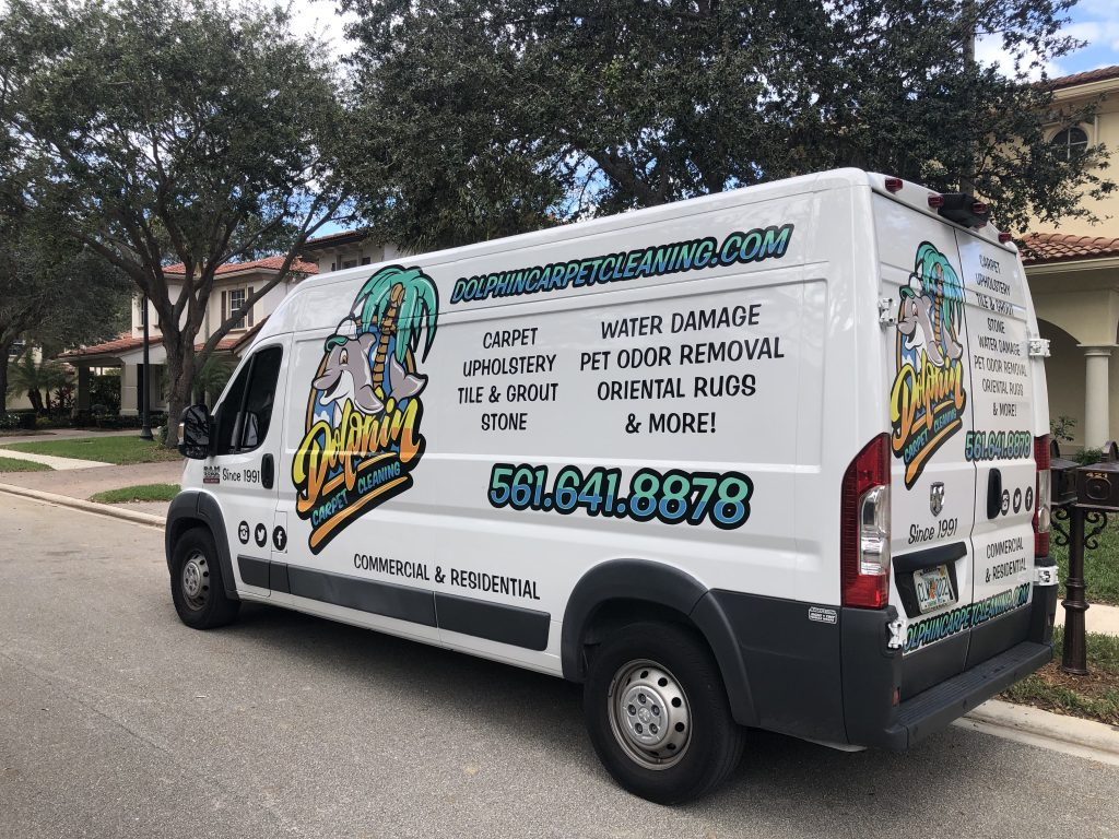 Dolphin Carpet Cleaning van